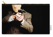 Business Man Or Corporate Crook Holding Gun Carry-all Pouch