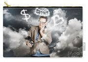 Business Man Planning Work Life Balance Strategy Carry-all Pouch
