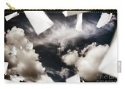 Business Papers Falling In The Sky Carry-all Pouch