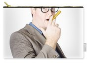 Businessman Making Cigarette Of Rolled Banknote Carry-all Pouch