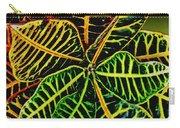 Cadiaeum Crotons Tropical Houseplant Shrub Carry-all Pouch