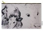 Calves, Gt Garnetts II Pen & Ink On Paper Carry-all Pouch