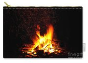Campfire As A Symbol Of Warmth And Life On Black Carry-all Pouch