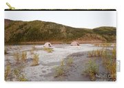 Canoe Tent Camp At Yukon River In Taiga Wilderness Carry-all Pouch
