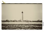 Cape May Lighthouse In Sepia Carry-all Pouch