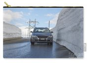 Car And Snow Wall Carry-all Pouch