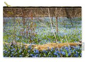 Carpet Of Blue Flowers In Spring Forest Carry-all Pouch