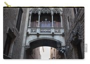 Carrer Del Bisbe Street In Gothic Quarter Of Barcelona Carry-all Pouch