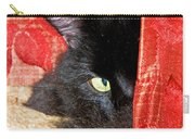 Cat Hiding Behind Drapes Carry-all Pouch