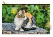 Cat On Tree Trunk Carry-all Pouch