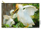 Cattle Egret With Young In Nest Carry-all Pouch