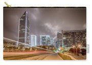 Charlotte Nc Usa Skyline During And After Winter Snow Storm In January Carry-all Pouch
