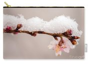 Cherryblossom With Snow Carry-all Pouch