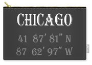 Chicago Coordinates Carry-all Pouch