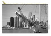Chicago Skyline And Tall Ship Carry-all Pouch