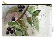 Chickadees And Blueberries Carry-all Pouch