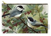 Chickadees And Cherries Carry-all Pouch