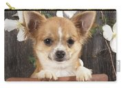 Chihuahua Dog In Flowerpot Carry-all Pouch