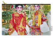 Children Dressed In Full Traditional Chinese Opera Costumes. Carry-all Pouch