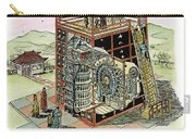 Chinese Astronomical Clocktower Built Carry-all Pouch