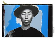 Chinese Man In Traditional Dress Circa 1882 Collage Tucson Arizona 1882-2013 Carry-all Pouch