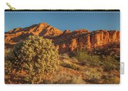 Cholla Cactus And Red Rocks At Sunrise Carry-all Pouch