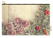 Christmas Garland Carry-all Pouch by Amanda Elwell
