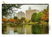City Skyline In Fog And Rainy Weather During Autumn Season Carry-all Pouch