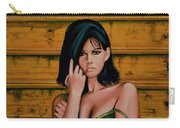 Claudia Cardinale Painting Carry-all Pouch by Paul Meijering