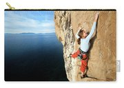 Climber Grabs A Hold While Climbing Carry-all Pouch