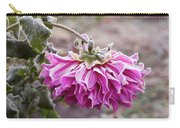 Close-up Of Flowers Covered By Frost Carry-all Pouch