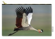 Close-up Of Grey Crowned Crane Carry-all Pouch