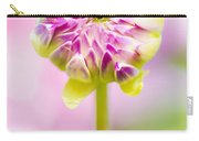 Closed Pink Baby Dahlia Flower. Spring Blossom Carry-all Pouch