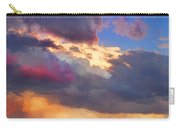 Cloudscape Sunset Touch Of Blue Carry-all Pouch