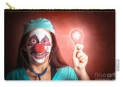 Clown Doctor Holding Red Emergency Lightbulb Carry-all Pouch
