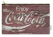 Coca Cola Pink Grunge Sign Carry-all Pouch