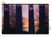 Colonnade In A Park At Sunset, 95 Bell Carry-all Pouch