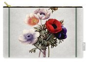 Colorful Anemones Square Carry-all Pouch