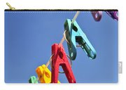 Colorful Clothes Pins Carry-all Pouch by Elena Elisseeva