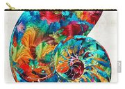 Colorful Nautilus Shell By Sharon Cummings Carry-all Pouch