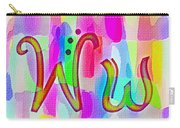 Colorful Texturized Alphabet Ww Carry-all Pouch