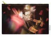 Comedy Entertainment Man On Theater Stage Carry-all Pouch
