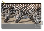 Common Zebras Drinking Water Carry-all Pouch