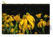 Coneflowers Echinacea Yellow Painted Carry-all Pouch
