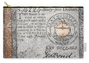 Continental Currency, 1779 Carry-all Pouch
