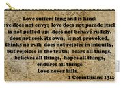 1 Cor. 13 Verses 4 - 7  Carry-all Pouch