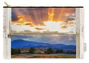 Country Beams Of Light Barn Picture Window Portrait View  Carry-all Pouch