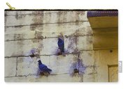 Couple Of Pigeons On A Wall Carry-all Pouch