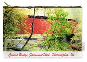 Covered Bridge In Autumn Fairmount Park Philadelphia Carry-all Pouch