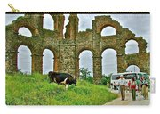Cow By Second Century Aspendos Aqueduct-turkey Carry-all Pouch